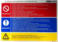 Safety Label - Commercial Lifts 4831-106-2