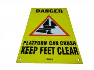 Keep Feet Clear Decal EF0516