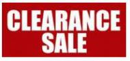 **CLEARANCE SALE**